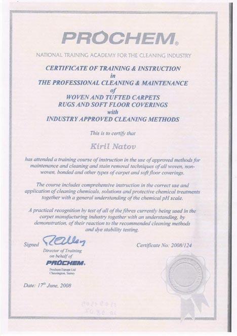 Accreditations Premium Carpet Cleaning London